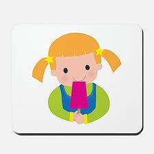 Little Girl Popsicle Mousepad