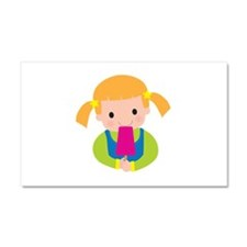 Little Girl Popsicle Car Magnet 20 x 12