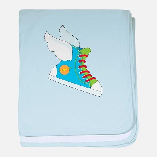 Flying Sneaker baby blanket