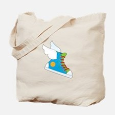 Flying Sneaker Tote Bag