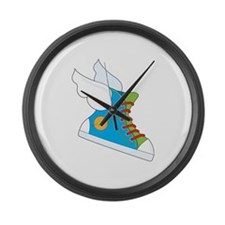 Flying Sneaker Large Wall Clock
