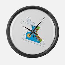 Flying Sneaker Large Wall Clock