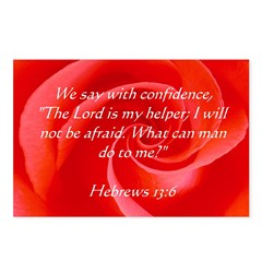 Confidence Rose Scripture Postcards (Package o