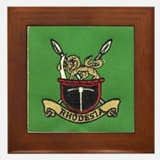 Republic of Rhodesia Framed Tile