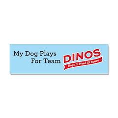 Team DINOS Logo Car Magnet 10 x 3