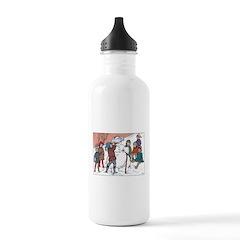 1930's Snow Fun #5 Water Bottle