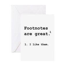 Footnotes Great Greeting Card