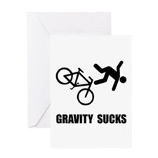 Gravity Sucks Bike Greeting Card
