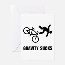 Gravity Sucks Bike Greeting Cards (Pk of 10)