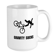 Gravity Sucks Bike Mug
