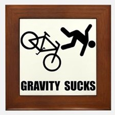 Gravity Sucks Bike Framed Tile