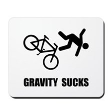 Gravity Sucks Bike Mousepad
