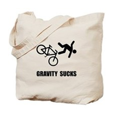 Gravity Sucks Bike Tote Bag