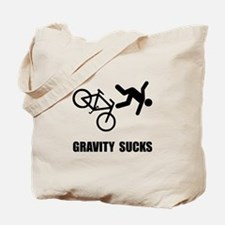 Gravity Sucks Bike Tote Bag