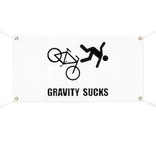 Gravity Sucks Bike Banner