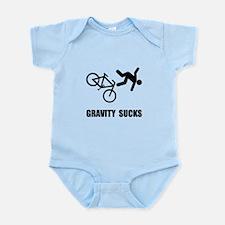Gravity Sucks Bike Infant Bodysuit