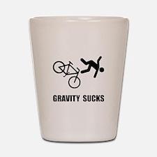 Gravity Sucks Bike Shot Glass