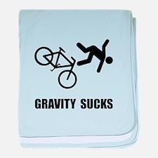 Gravity Sucks Bike baby blanket