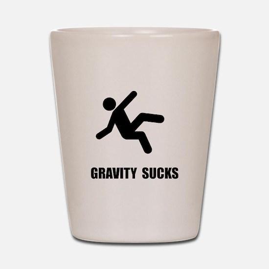 Gravity Sucks Shot Glass
