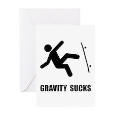 Skateboard Gravity Greeting Card