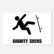 Skateboard Gravity Postcards (Package of 8)