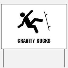 Skateboard Gravity Yard Sign