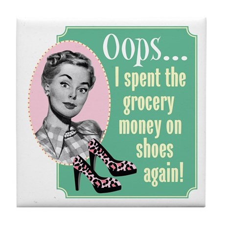 Oops! Shoes! Tile Coaster