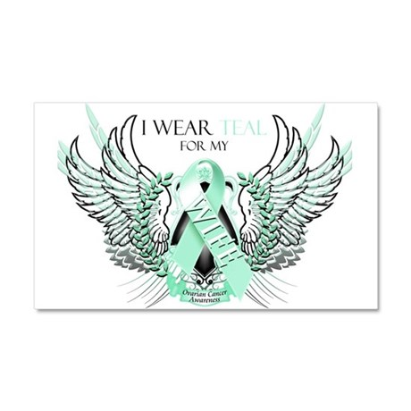 I Wear Teal for my Wife Car Magnet 20 x 12