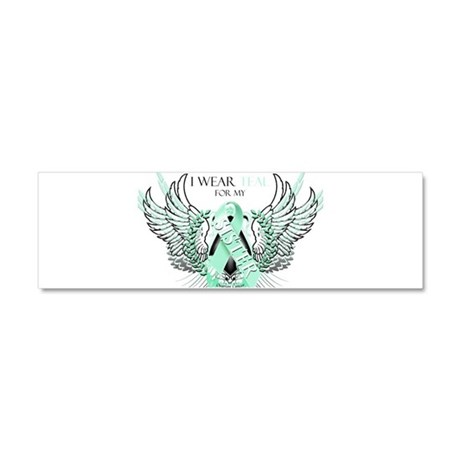 I Wear Teal for my Sister Car Magnet 10 x 3