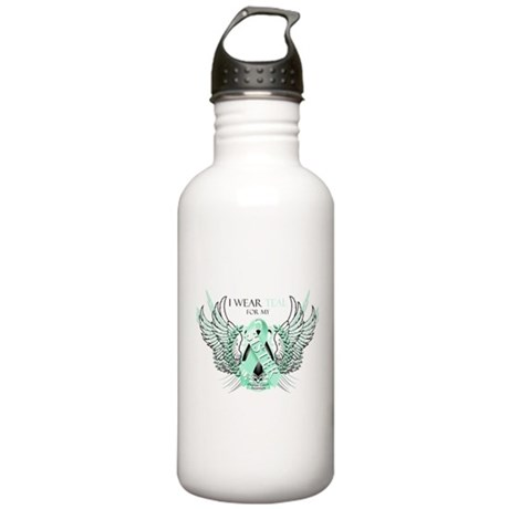 I Wear Teal for my Sister Stainless Water Bottle 1