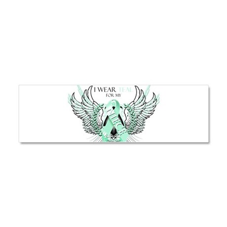 I Wear Teal for my Niece Car Magnet 10 x 3