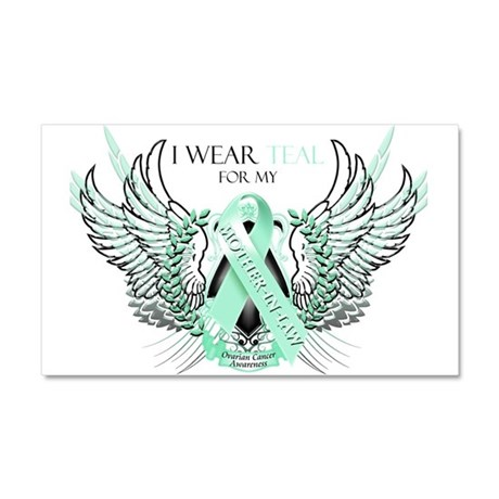 I Wear Teal for my Mother In Car Magnet 20 x 12