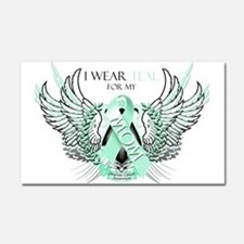 I Wear Teal for my Mom Car Magnet 20 x 12