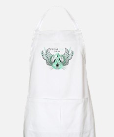 I Wear Teal for my Mom Apron