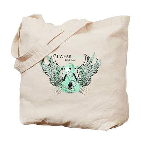 I Wear Teal for my Mom Tote Bag