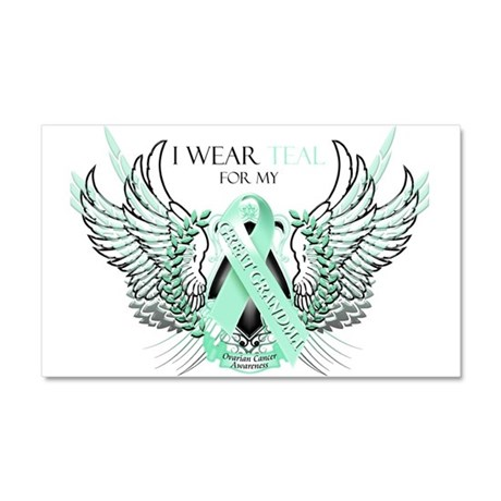 I Wear Teal for my Great Gran Car Magnet 20 x 12