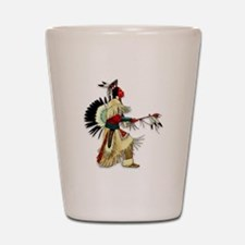 Native American Warrior #5 Shot Glass