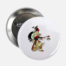"Native American Warrior #5 2.25"" Button (10 pack)"