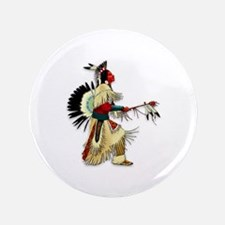 "Native American Warrior #5 3.5"" Button (100 pack)"