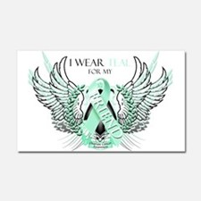 I Wear Teal for my Friend Car Magnet 20 x 12