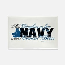 Daughter Law Combat Boots - NAVY Rectangle Magnet