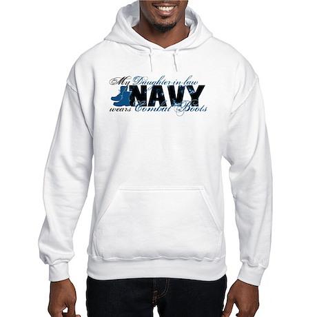 Daughter Law Combat Boots - NAVY Hooded Sweatshirt
