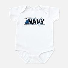Daughter Law Combat Boots - NAVY Infant Bodysuit