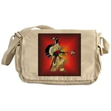 Native American Warrior #6 Messenger Bag