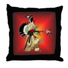 Native American Warrior #6 Throw Pillow