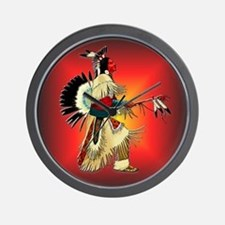 Native American Warrior #6 Wall Clock