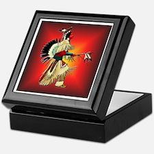 Native American Warrior #6 Keepsake Box