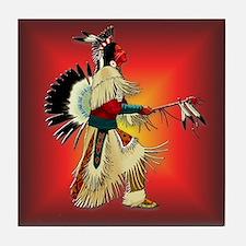 Native American Warrior #6 Tile Coaster