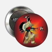 "Native American Warrior #6 2.25"" Button (10 pack)"