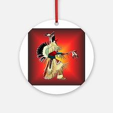 Native American Warrior #6 Ornament (Round)